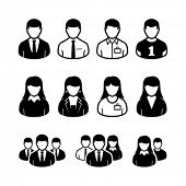 Vector icons personas