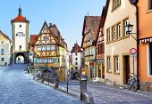 pic of bavaria  - Old street in Rothenburg ob der Tauber - JPG