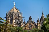stock photo of british bombay  - Chatrapati Shivaji Terminus earlier known as Victoria Terminus in Mumbai - JPG