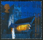 UK - CIRCA 2000: A stamp printed in UK shows image of the Floodlit Church of St.Peter and St. Paul,