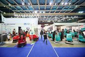 MOSCOW - NOVEMBER 15: Presentation of machines for cleaning floors at 14th International Exhibition of purity ExpoClean 2012 in SC Olympiysky, on November 15, 2012 in Moscow, Russia.