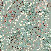 Stylish floral seamless pattern in vector. Seamless pattern can be used for wallpapers, pattern fill