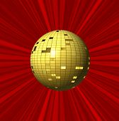 Abstract Red Background And Ball