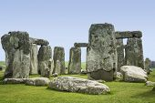 stock photo of megaliths  - prehistoric standing stone circle of stonehenge on salisbury plain wiltshire england - JPG