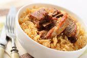 Pork Ribs Baked With Sauerkraut