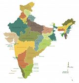 stock photo of political map  - India - JPG