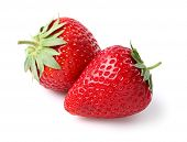 image of strawberry plant  - Fresh ripe strawberries - JPG