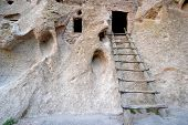 stock photo of ancient civilization  - anasazi ruins in new mexico near los alamos - JPG