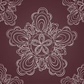 Seamless lace pattern fantasy flowers