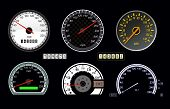 pic of mph  - set of vector speedometer and counter - JPG