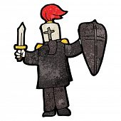 picture of arthurian  - cartoon black knight - JPG