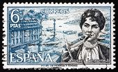 Postage Stamp Spain 1968 Rosalia De Castro, Writer And Poet