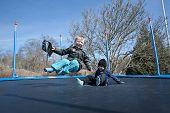 Springtime Fun On A Trampolin