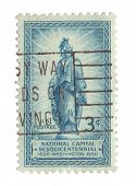 United State Stamp of the Statue of Freedom on the Capitol Dome