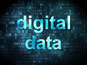 Data concept: Digital Data on digital background