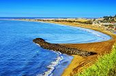 Playa del Ingles beach and Maspalomas Dunes, Gran Canaria, Canary Islands, Spain