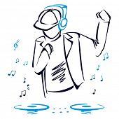 DJ mixing music