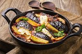 baked eggplant with potato greek style