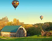 barn and balloons