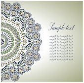 stock photo of arabic  - Vintage Background Traditional Ottoman  motifs - JPG