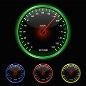 Colorful Speedometer Vector Illustration