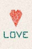 Love Heart And Triangle Background