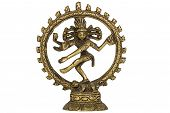 Figurine of Lord Shiva Nataraja dancing, isolated on white background
