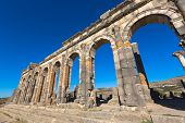 Ancient Roman Basilica At Volubilis In Morocco