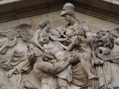 Britannia relief sculpture in Greenwich Naval College, London