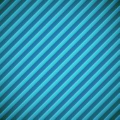 Abstract diagonal bumped stripes blue vector background.