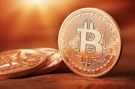 picture of bit coin  - Golden Bit coins  - JPG