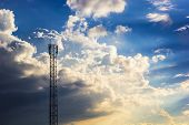 Phone Tower Antenna & Cloud
