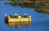 Rajasthan landmark - Jal Mahal (Water Palace) on Man Sagar Lake,Jaipur, Rajasthan, India