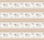 Seamless Knitted Pattern of Cute Sheeps