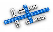 picture of sustainable development  - social responsibility crossword puzzle - JPG