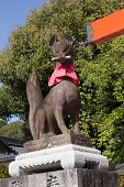 Fox sculture in Fushimi Inari Taisha Shrine