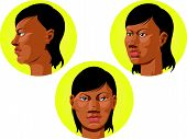 Head - African American Woman