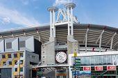 Exterior Soccer Stadium Iin Amsterdam, The Netherlands