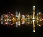 Hongkong Skylines At Night