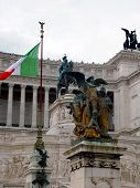 image of emanuele  - View of the national monument a Vittorio Emanuele II on the the Piazza Venezia in Rome  - JPG