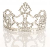 pic of beauty pageant  - crown or tiara isolated on a white background with reflection - JPG
