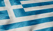 Oblique view of the Flag of Greece