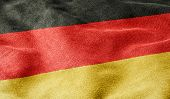 Oblique view of the Flag of Germany