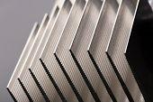 Metal stripped radiator closeup picture