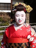 Japanese lady in Geisha dress