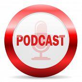 podcast glossy web icon