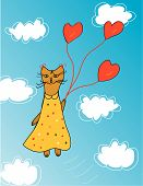 Cute card with cat