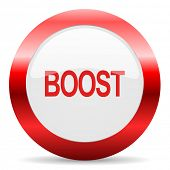 boost glossy web icon