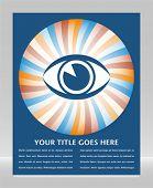 Eye sunburst design.