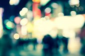 picture of illuminating  - Bokeh street light Vintage background - JPG